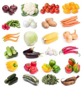 Verduras frescas. Combinación de alimentos