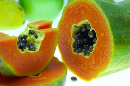 Papaya con semillas