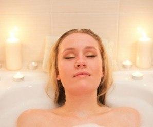 Baño con aceites aromáticos