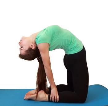 Postura del Camello en Yoga
